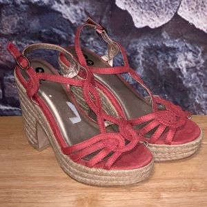 So by Kohl's Rose Pink Strappy Heels Sz 6.5